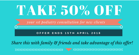 podiatry consultation discount